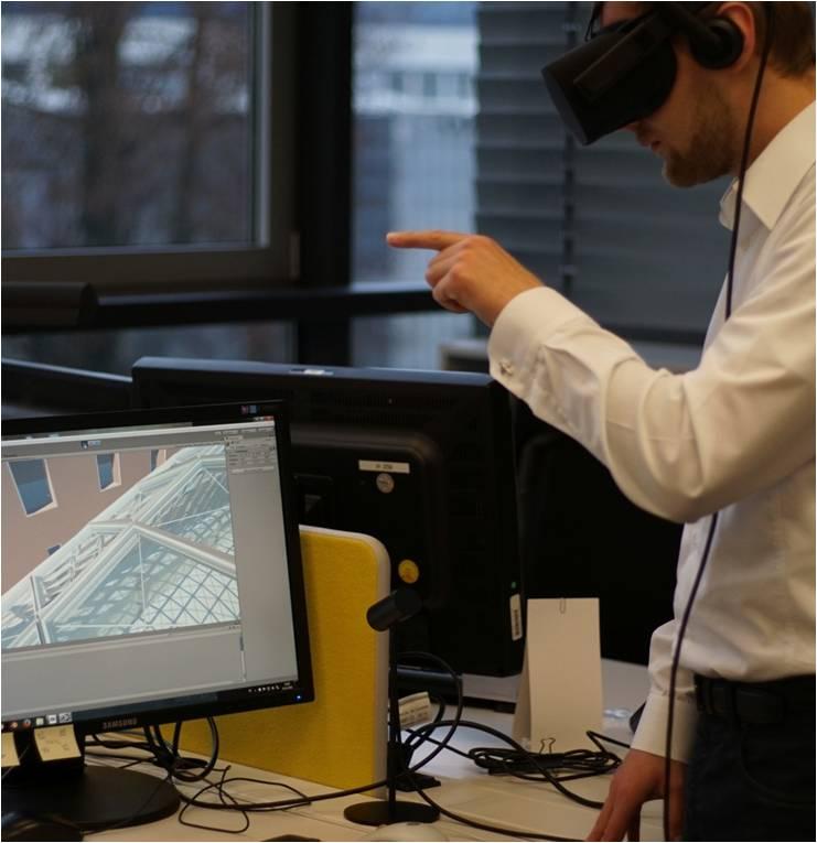 Vorbereitung von Montagesequenzen mit VR Technologie (Foto: seele)